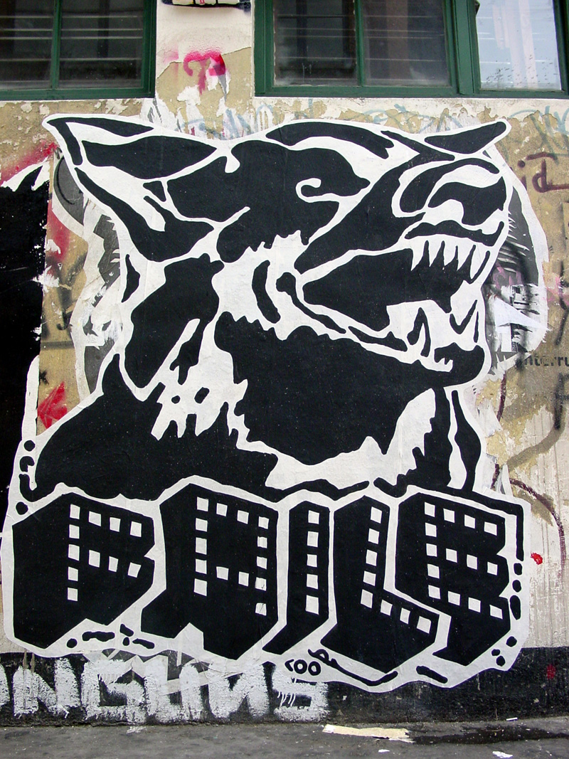 Street art by Patrick McNeal/Faile