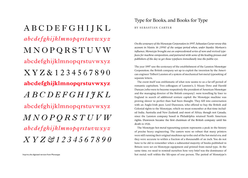 A spread from Type & Typeography